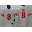 Youth New York Giants #8 Daniel Jones Limited White Vapor Untouchable Jersey