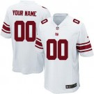 Youth New York Giants Customized Game White Jersey