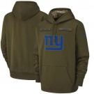 Youth New York Giants Olive Salute To Service Printed Pullover Hoodie