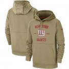 Youth New York Giants Tan 2019 Salute to Service Sideline Therma Printed Pullover Hoodie
