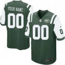 Youth New York Jets Customized Game Green Jersey