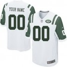 Youth New York Jets Customized Game White Jersey