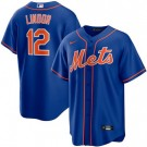 Youth New York Mets #12 Francisco Lindor Blue Cool Base Jersey