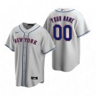 Youth New York Mets Customized Gray Road 2020 Cool Base Jersey
