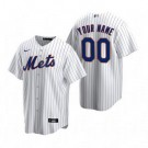 Youth New York Mets Customized White Stripes 2020 Cool Base Jersey