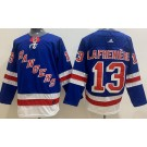 Youth New York Rangers #13 Alexis Lafreniere Blue Authentic Jersey