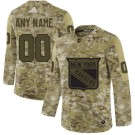Youth New York Rangers Customized Camo Authentic Jersey