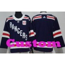 Youth New York Rangers Customized Navy 2018 Winter Classic Jersey