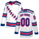 Youth New York Rangers Customized White Authentic Jersey
