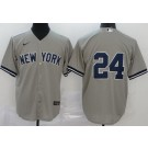 Youth New York Yankees #24 Gary Sanchez Gray 2020 Cool Base Jersey