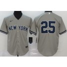 Youth New York Yankees #25 Gleyber Torres Gray 2020 Cool Base Jersey