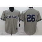Youth New York Yankees #26 DJ LeMahieu Gray 2020 Cool Base Jersey