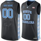 Youth North Carolina Tar Heels Customized Black College Basketball Jersey