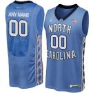 Youth North Carolina Tar Heels Customized Blue College Basketball Jersey