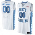 Youth North Carolina Tar Heels Customized White College Basketball Jersey