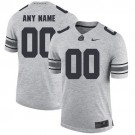 Youth Ohio State Buckeyes Customized Gray College Football Jersey