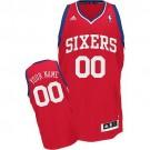 Youth Philadelphia 76ers Customized Red Swingman Adidas Jersey