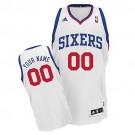 Youth Philadelphia 76ers Customized White Swingman Adidas Jersey