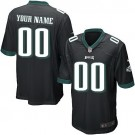 Youth Philadelphia Eagles Customized Game Black Jersey