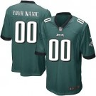 Youth Philadelphia Eagles Customized Game Green Jersey