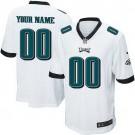 Youth Philadelphia Eagles Customized Game White Jersey