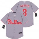 Youth Philadelphia Phillies #3 Bryce Harper Gray 2020 Cool Base Jersey