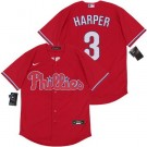 Youth Philadelphia Phillies #3 Bryce Harper Red 2020 Cool Base Jersey