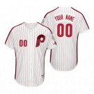 Youth Philadelphia Phillies Customized White 1983 Turn Back The Clock Jersey