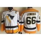 Youth Pittsburgh Penguins #66 Mario Lemieux White Throwback Jersey