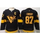 Youth Pittsburgh Penguins #87 Sidney Crosby Black 2019 Stadium Series Jersey