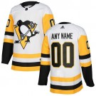 Youth Pittsburgh Penguins Customized White Authentic Jersey