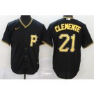 Youth Pittsburgh Pirates #21 Roberto Clemente Black 2020 Cool Base Jersey