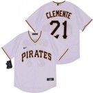Youth Pittsburgh Pirates #21 Roberto Clemente White 2020 Cool Base Jersey