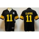 Youth Pittsburgh Steelers #11 Chase Claypool Limited Black Rush Color Jersey
