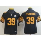 Youth Pittsburgh Steelers #39 Minkah Fitzpatrick Limited Black Rush Color Jersey
