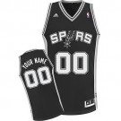 Youth San Antonio Spurs Customized Black Swingman Adidas Jersey