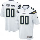 Youth San Diego Chargers Customized Game White Jersey