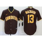 Youth San Diego Padres #13 Manny Machado Brown 2020 Cool Base Jersey