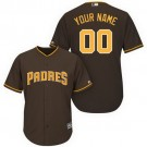 Youth San Diego Padres Customized Brown Cool Base Jersey