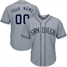 Youth San Diego Padres Customized Gray Cool Base Jersey