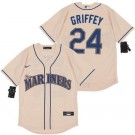 Youth Seattle Mariners #24 Ken Griffey Cream 2020 Cool Base Jersey