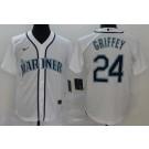 Youth Seattle Mariners #24 Ken Griffey White 2020 Cool Base Jersey