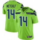 Youth Seattle Seahawks #14 DK Metcalf Limited Green Rush Color Jersey