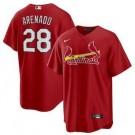 Youth St Louis Cardinals #28 Nolan Arenado Red Cool Base Jersey