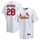 Youth St Louis Cardinals #28 Nolan Arenado White Cool Base Jersey