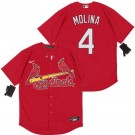 Youth St Louis Cardinals #4 Yadier Molina Red 2020 Cool Base Jersey