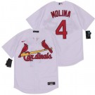 Youth St Louis Cardinals #4 Yadier Molina White 2020 Cool Base Jersey