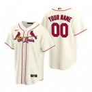 Youth St Louis Cardinals Customized Cream Alternate 2020 Cool Base Jersey
