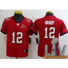 Youth Tampa Bay Buccaneers #12 Tom Brady Limited Red 2021 Super Bowl LV Bound Vapor Untouchable Jersey