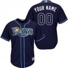 Youth Tampa Bay Rays CustomizedNavy Blue Cool Base Jersey